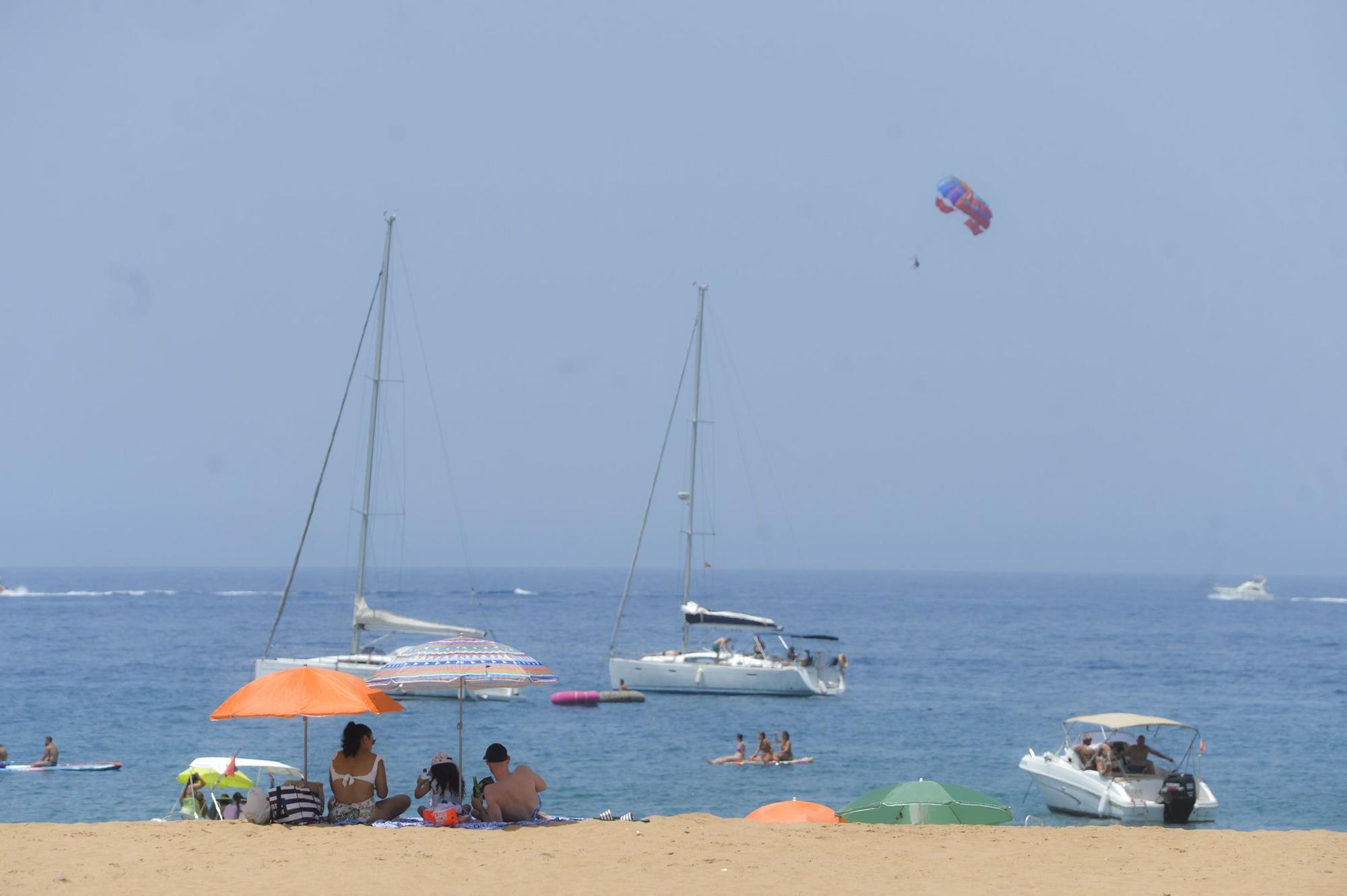 Playas del sur de Gran Canaria durante la ola de calor (18/07/2021)