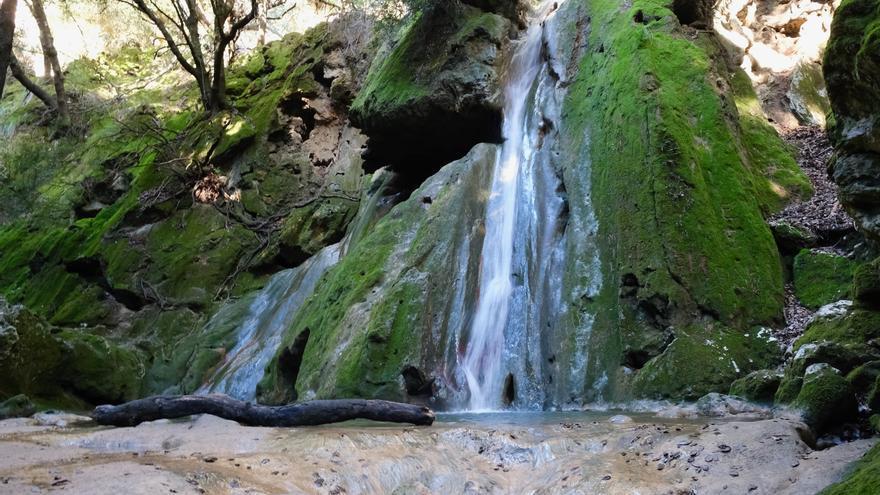 El espectáculo del Salt del Freu atrae a cientos de excursionistas junto a su cascada