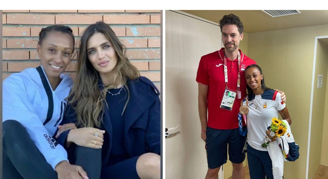 La periodista Sara Carbonero y el jugador de baloncesto Pau Gasol, entre los que felicitaron a Ana.