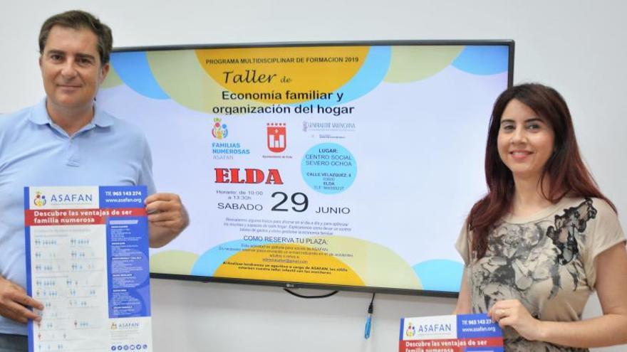 Taller de economía familiar y organización del hogar para familias numerosas en Elda