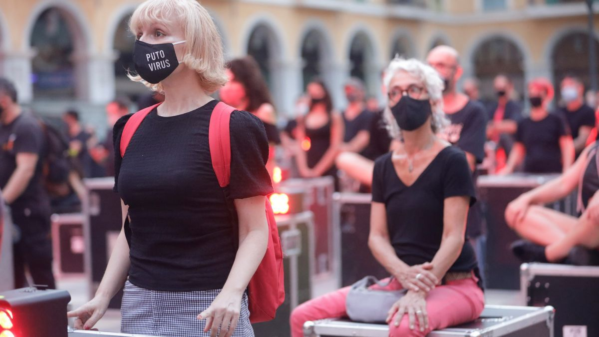 Protesta músicos en Palma