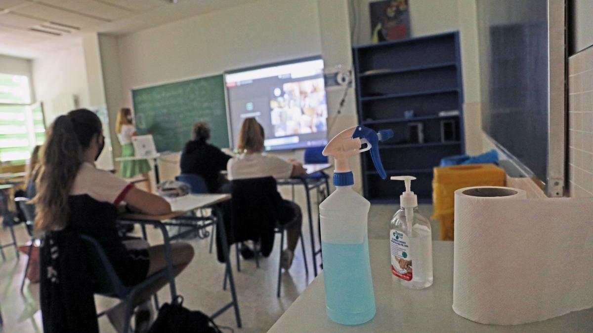 Aula de un colegio de Madrid.
