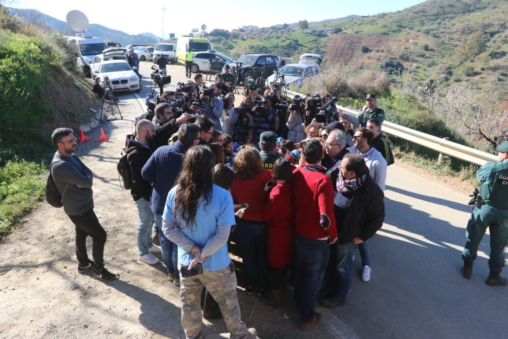 Continúan las labores de rescate este lunes en Totalán