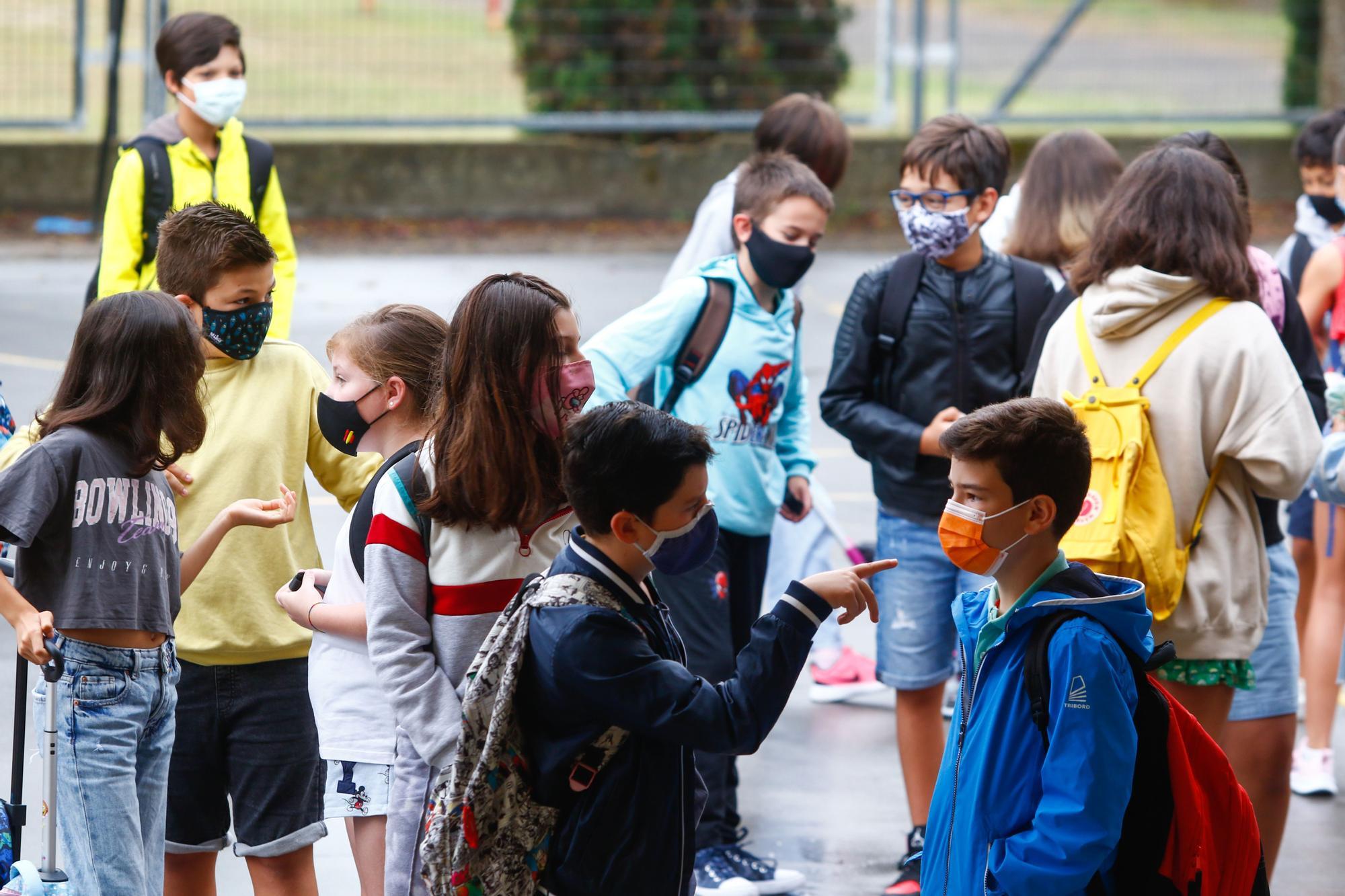 Las imágenes de la vuelta al cole en Galicia