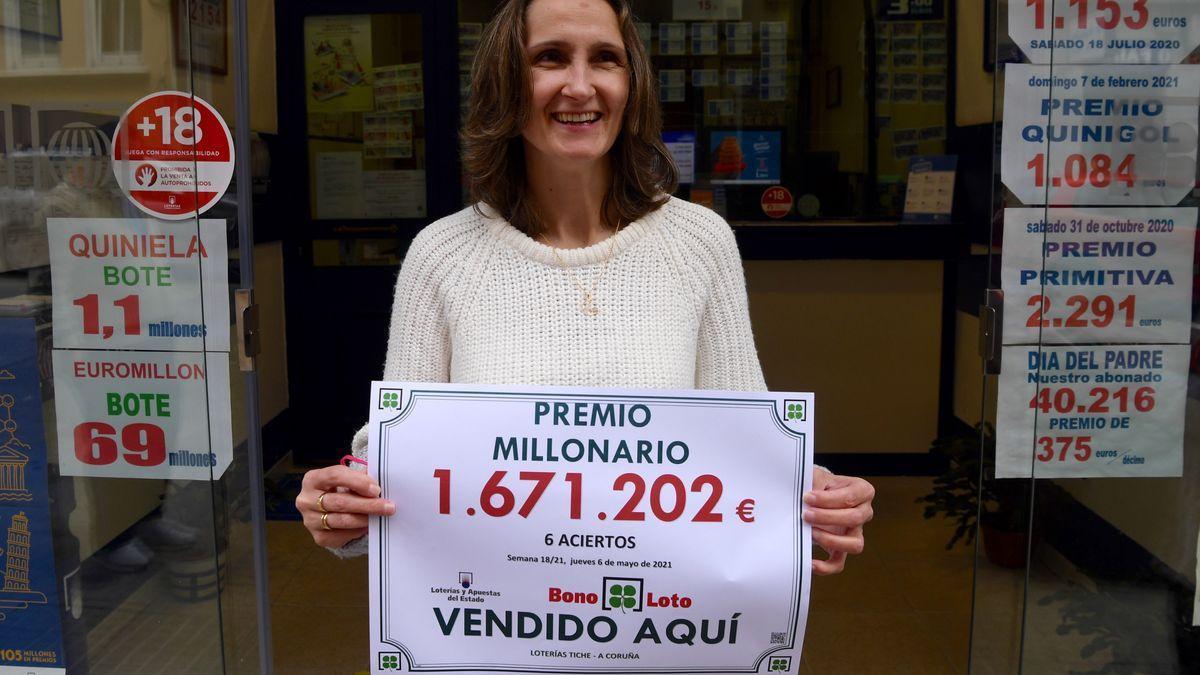 Premio millonario de la Bonoloto en Os Mallos, vendido en la administración de Loterías Tiqué, en la calle Eugenio Carré.
