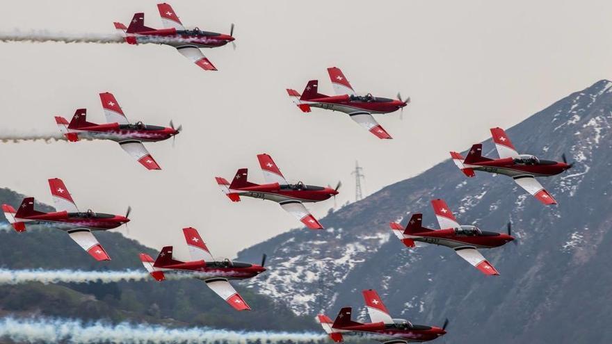 El Ejército suizo participará  en el Festival Aéreo Internacional de Gijón