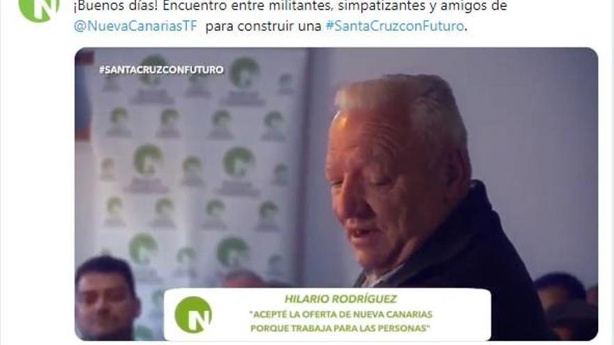 Nueva Canarias ficha Hilario Rodríguez, un histórico de CC-ATI