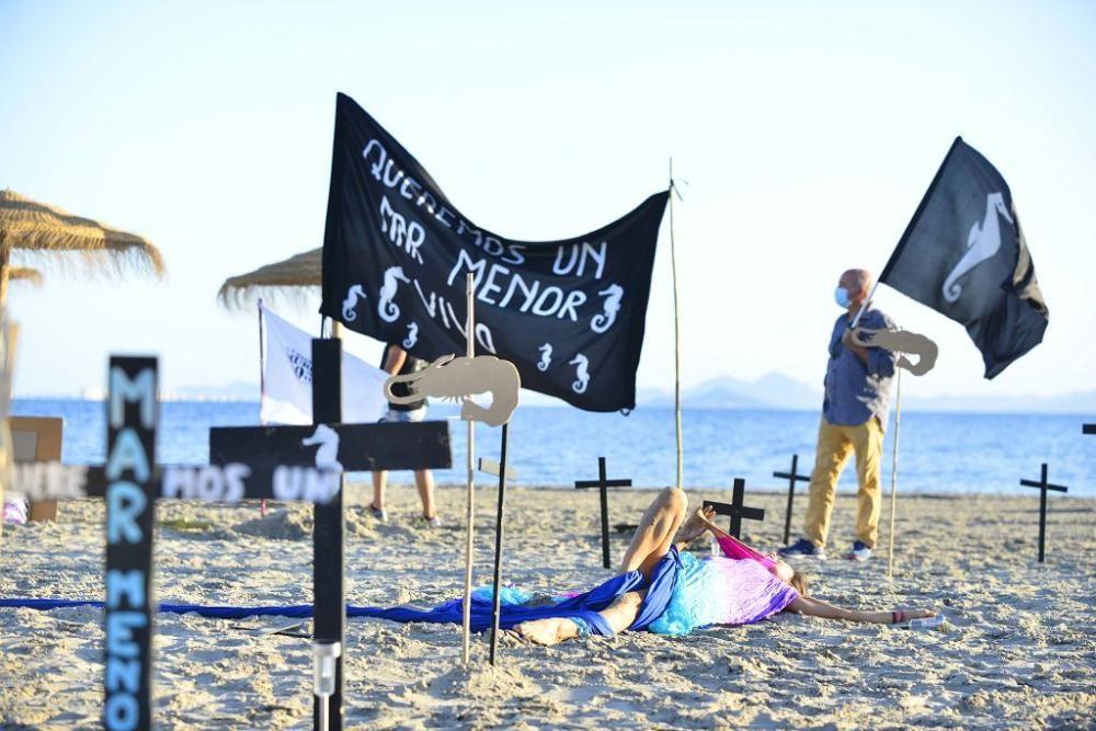 Tercer día consecutivo de protestas por el Mar Menor: Playa Villananitos