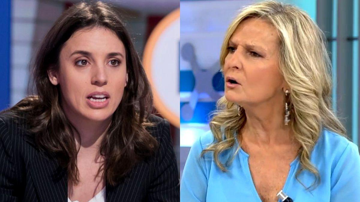Irene Montero e Isabel San Sebastián.