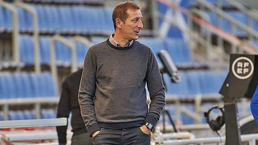 Luis Miguel Ramis, en el choque ante el Mallorca, el último en casa. | | CD TENERIFE