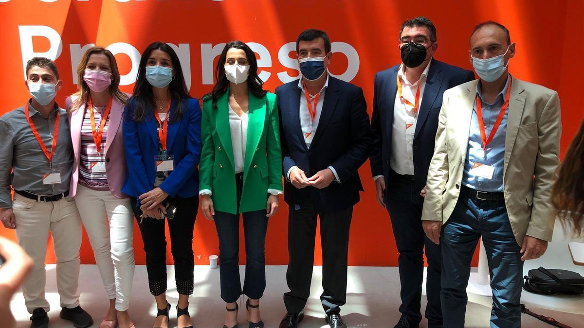 La delegación valenciana de Ciudadanos con Inés Arrimadas