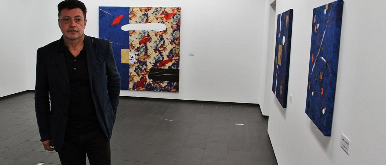 Gil Morán, en su exposición en As Quintas.   T. C.