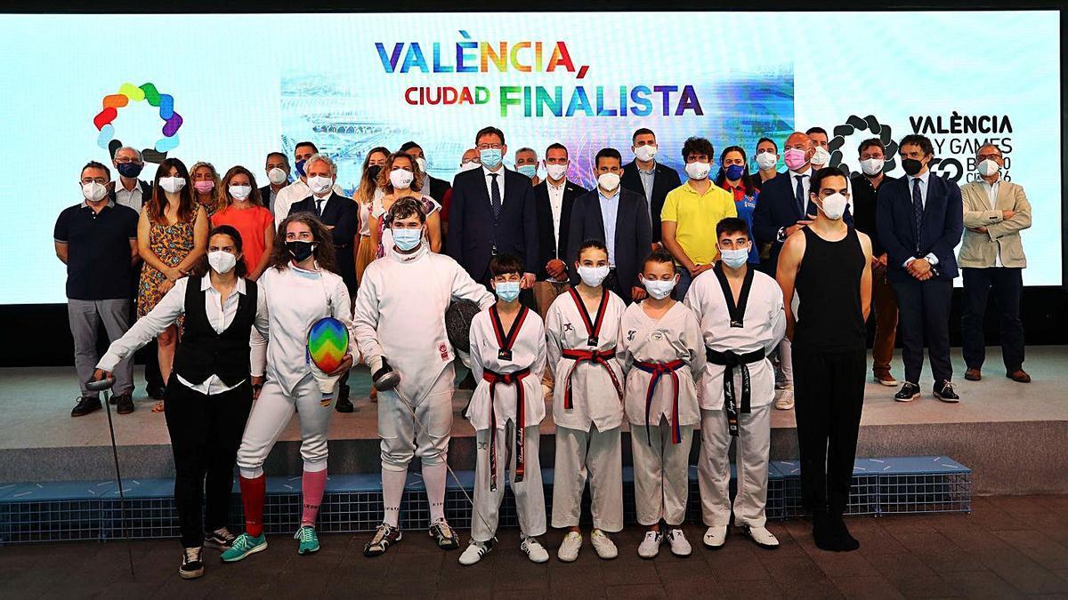 La presentación tuvo lugar en el Veles e Vents con la presencia del presidente de la Generalitat. | F. CALABUIG