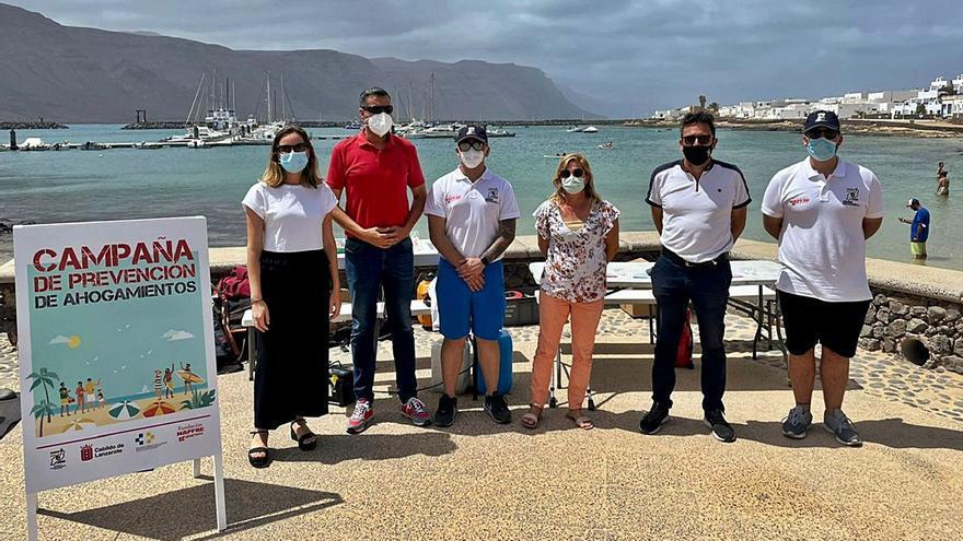 Campaña de prevención de ahogamientos en Lanzarote y La Graciosa