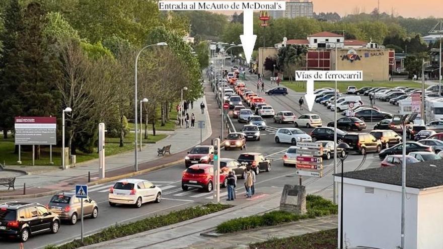 Los vecinos proponen usar las vías para reducir los atascos