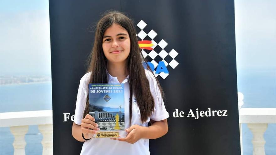 Mirella Almeida, campeona de España infantil