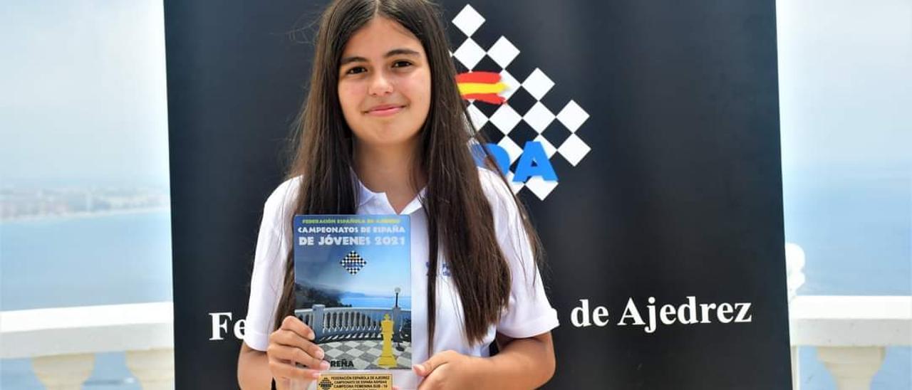 Mirella Almeida, campeona de España infantil de partidas rápidas