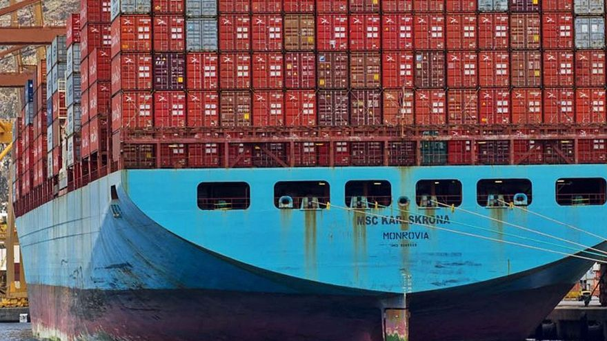 Imagen de archivo de un supercontenedores atracado en el puerto de Santa Cruz de Tenerife. | | E.D.