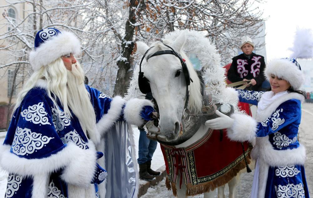 Ded Moroz, el Santa Claus de Kirguistán.
