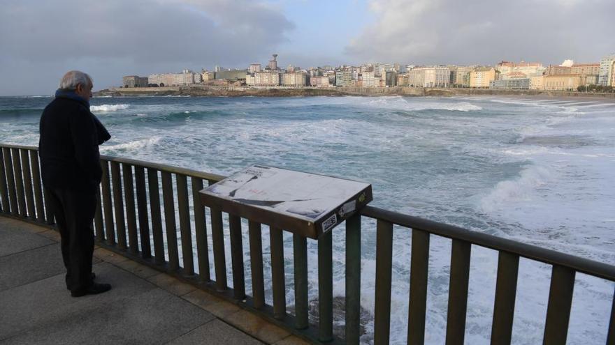 A Coruña y Lugo estarán mañana en aviso amarillo por vientos costeros