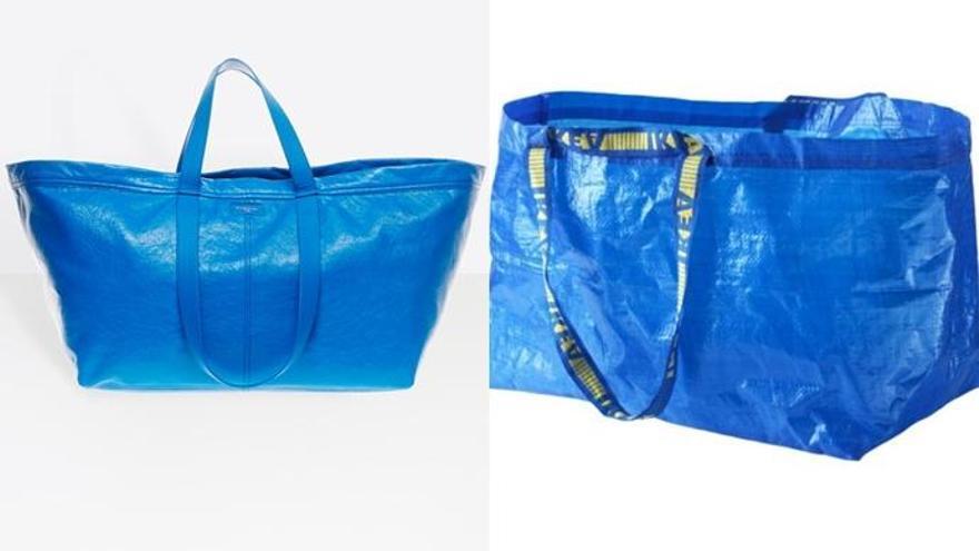 Balenciaga versiona la bolsa de Ikea y la vende por 1.700 euros