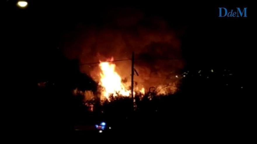 Illegal errichtete Baracken in Palma abgebrannt