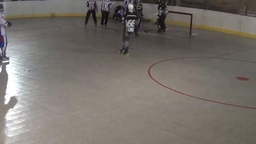 La pista de hockey de Gaetà Huguet salta por los aires