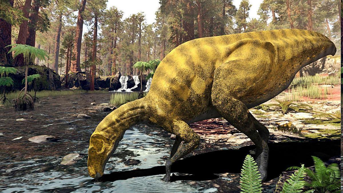 Recreación del dinosaurio «Portellsaurus sosbaynati».   LEVANTE-EMV