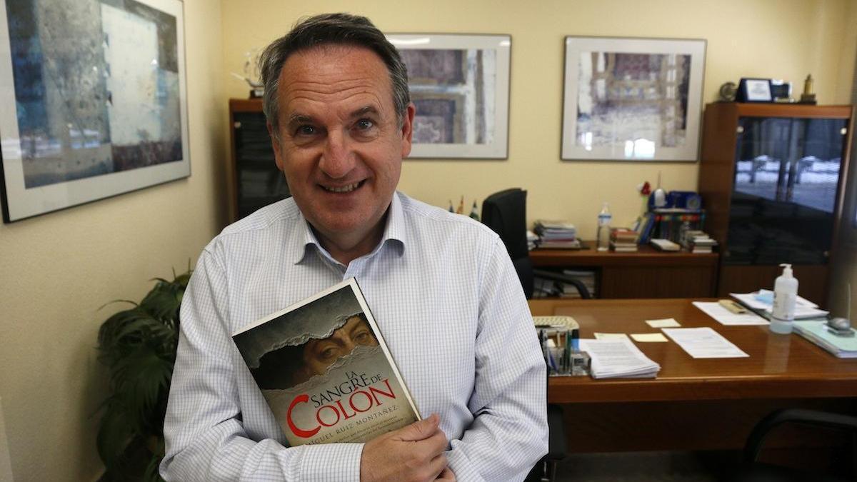 El escritor Miguel Ruiz, esta semana en Málaga.