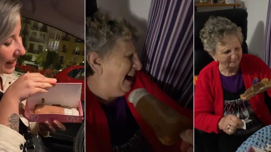 """Una nieta regala un 'pollofre' a su abuela: """"El primero que se come en 15 años"""""""