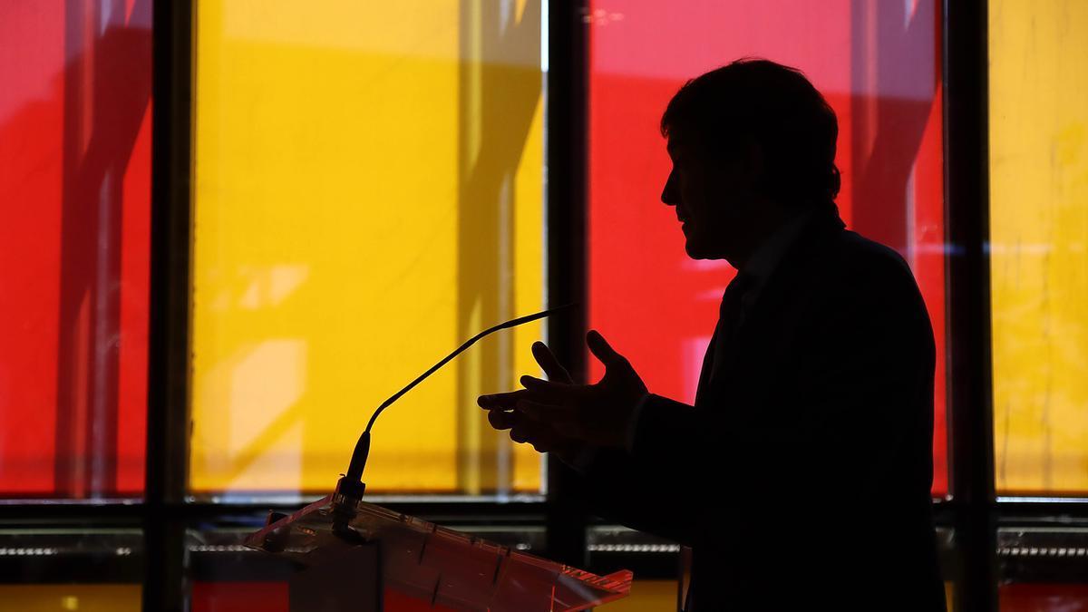 El presidente Alfonso Fernández Mañueco, durante su intervención.