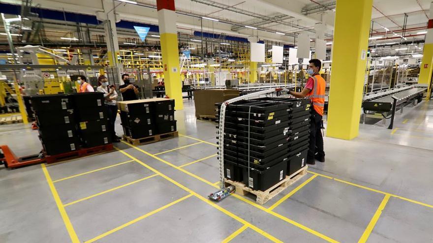 Amazon arranca su centro logístico en Corvera con servicio a 300 pymes murcianas