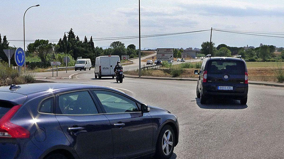 La carretera de Portbou, des d'on s'espera iniciar una ronda.