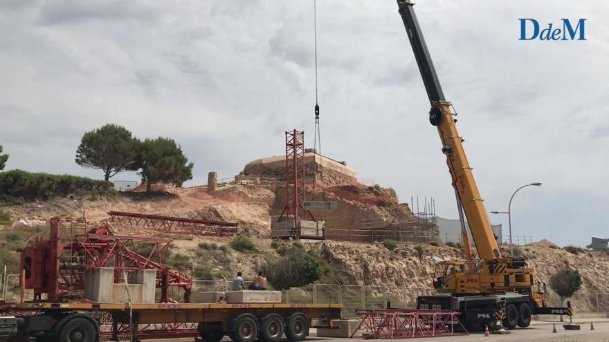 Desentierran el baluarte de Sant Carles para recuperar el fortín del siglo XVII