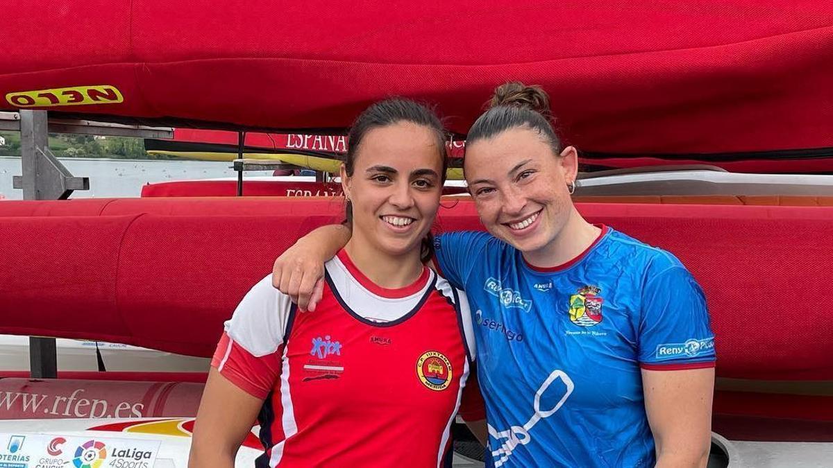 Mirella Vázquez junto a Teresa Tirado en el selectivo de Trasona
