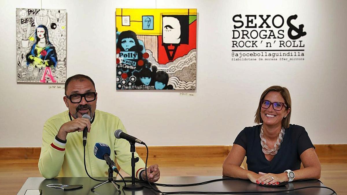 Félix Domínguez y Lara Martínez, ayer, durante la presentación del festival, en el Antiguo Instituto.
