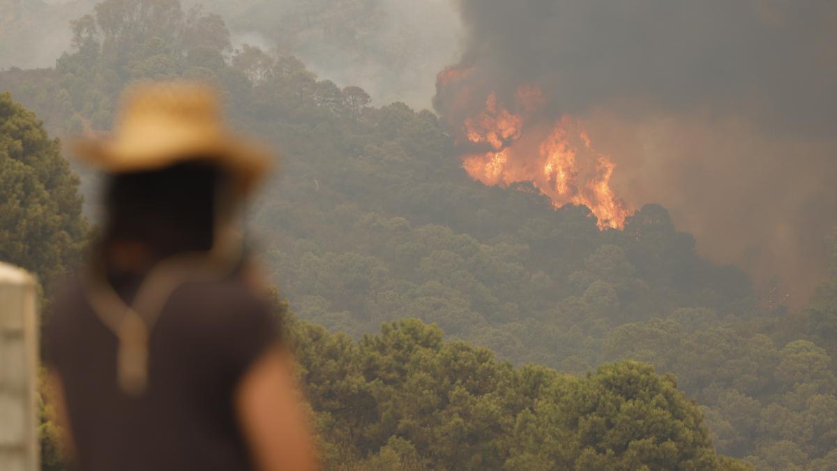 Un incendio en Sierra Bermeja provoca el desalojo de 500 personas
