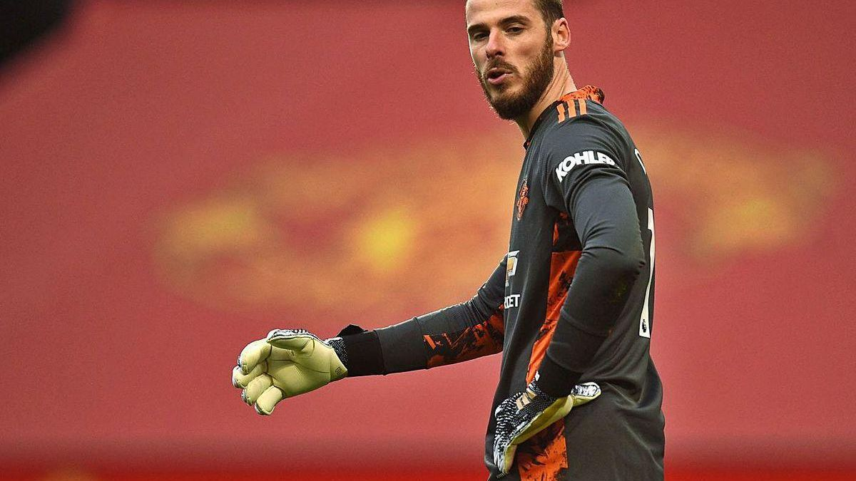 De Gea, durante un partido con el Manchester United.
