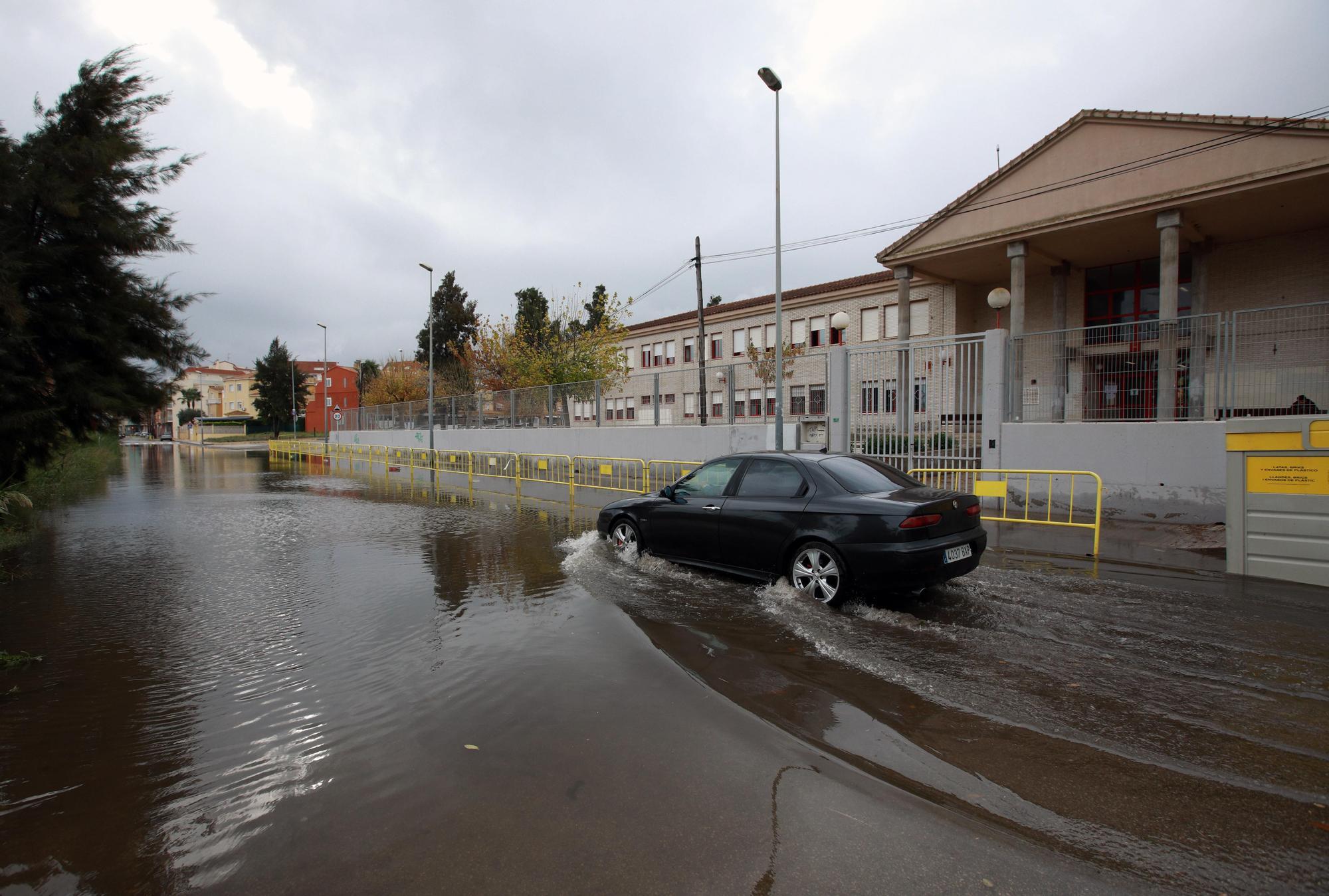 El temporal de lluvias en Alicante deja un acumulado de 200 l/m2 en las últimas 24 horas en Xàbia
