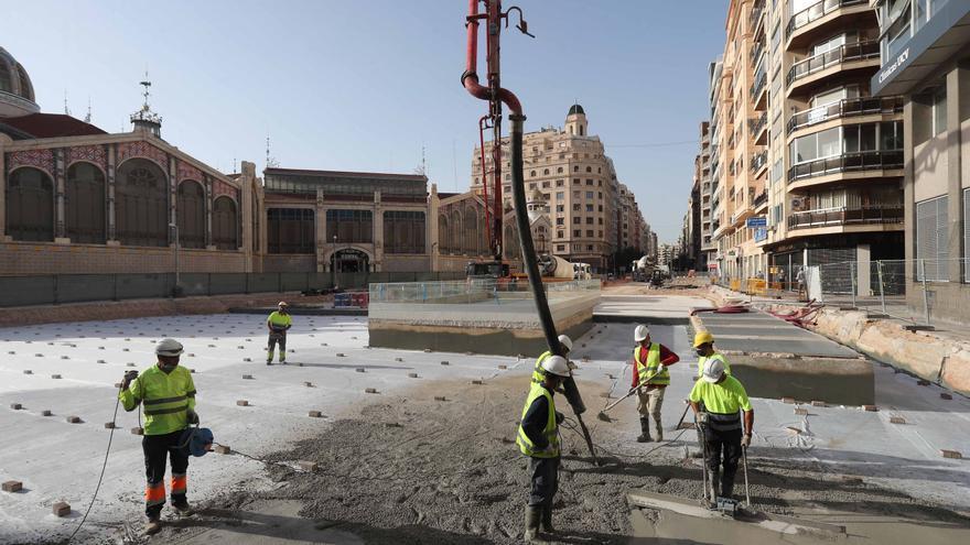 Avanzan las obras del entorno del Mercado Central