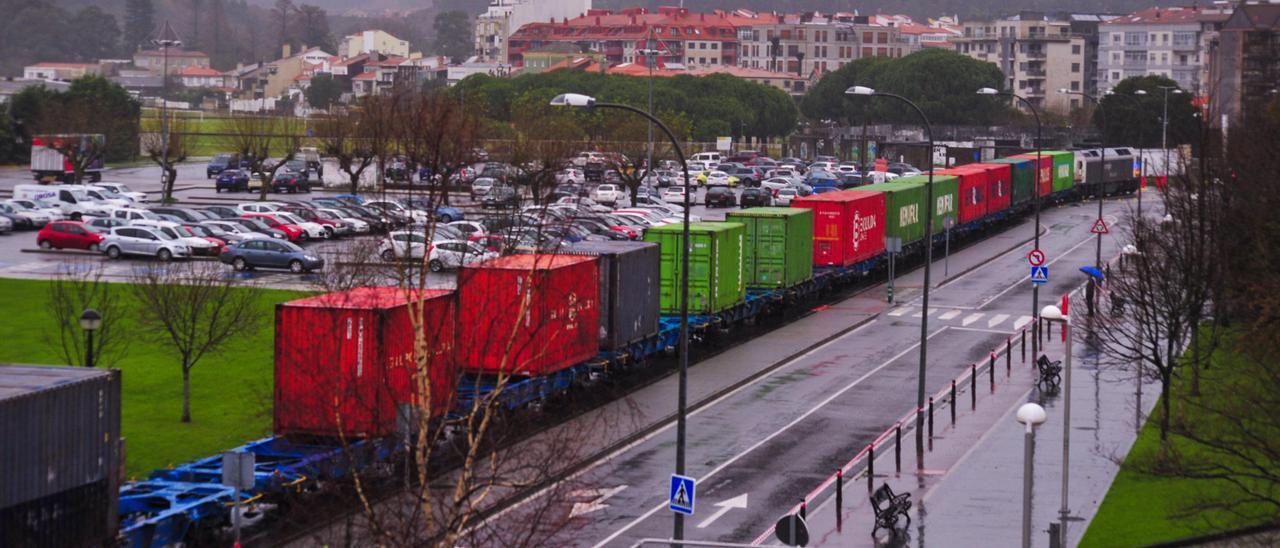 Tren de mercancías.
