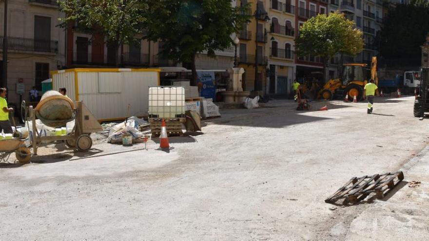 Recta final para las obras de la plaza Ramón y Cajal en Alcoy