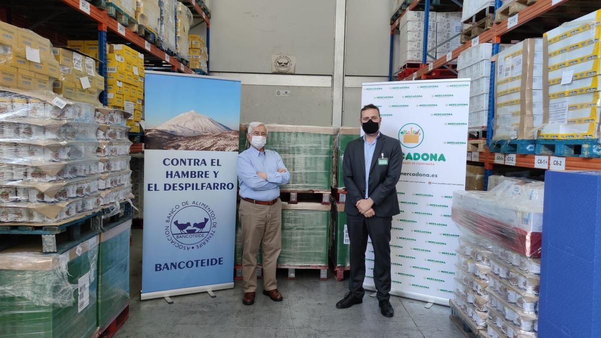 Mercadona dona 15 toneladas de productos de primera necesidad al Banco de Alimentos de Tenerife.
