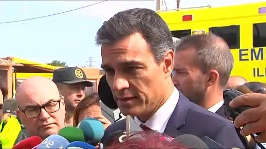 Sánchez anuncia ayudas económicas para los afectados por las inundaciones en Mallorca