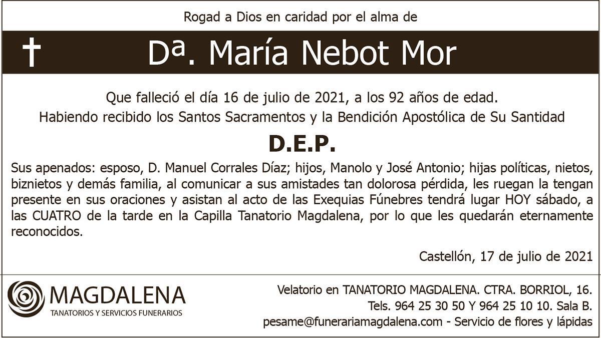 Dª María Nebot Mor