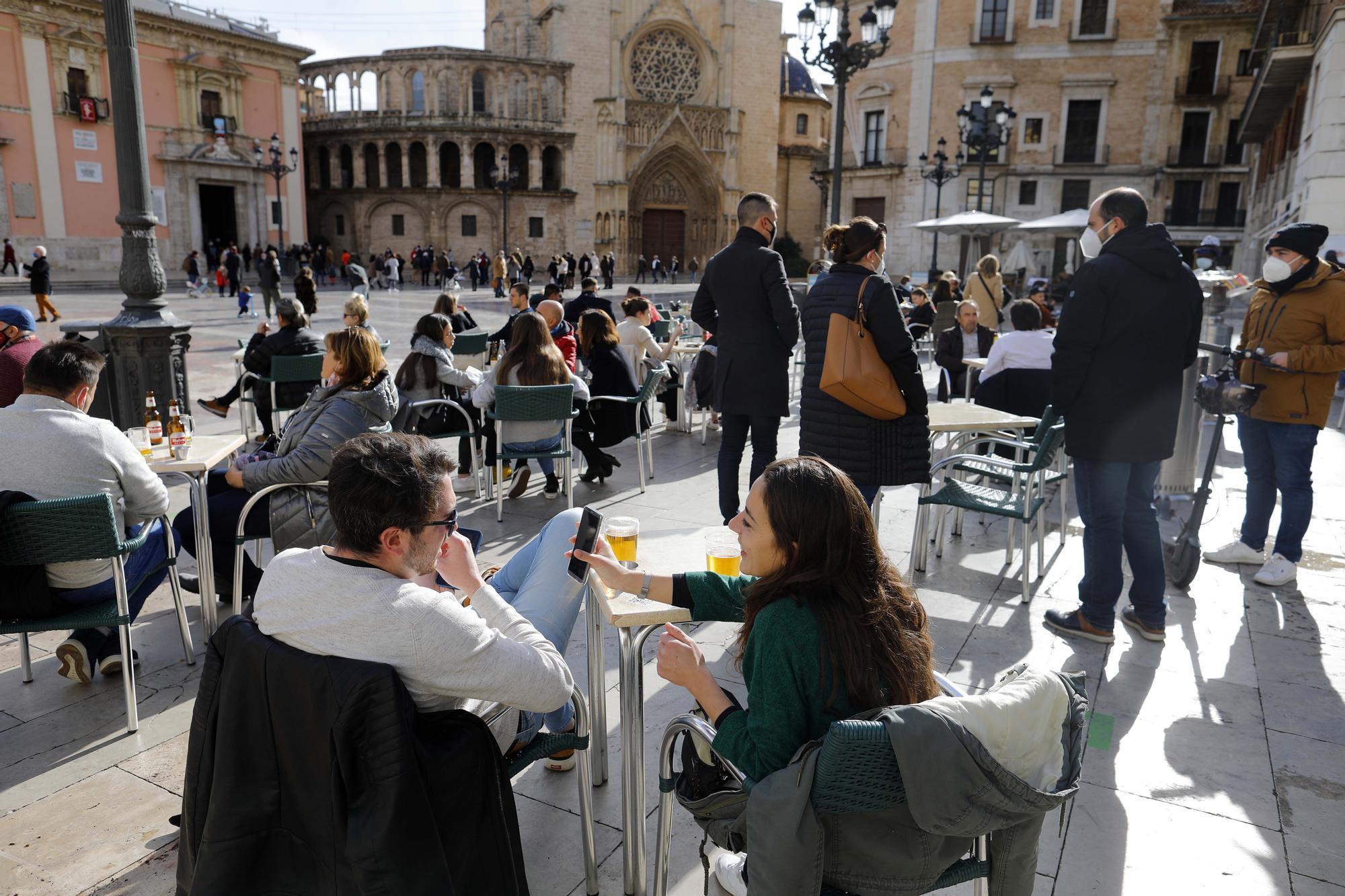 Ambiente en el centro de València el 1 de enero de 2021
