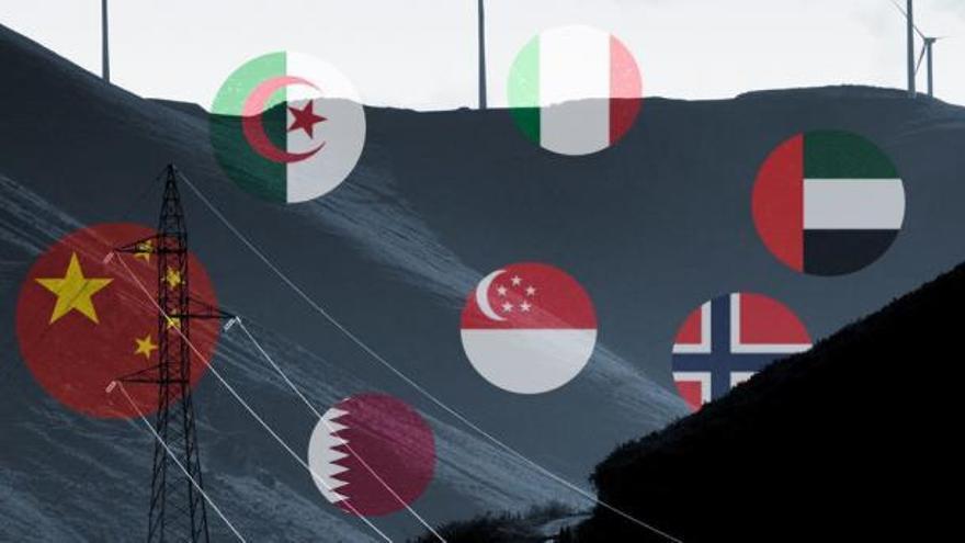 Siete estados extranjeros operan con diez firmas en el sector energético español