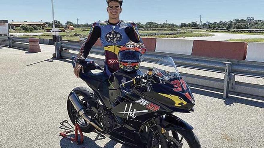 Augusto Fernández ya prepara el Mundial en el circuito de Llucmajor