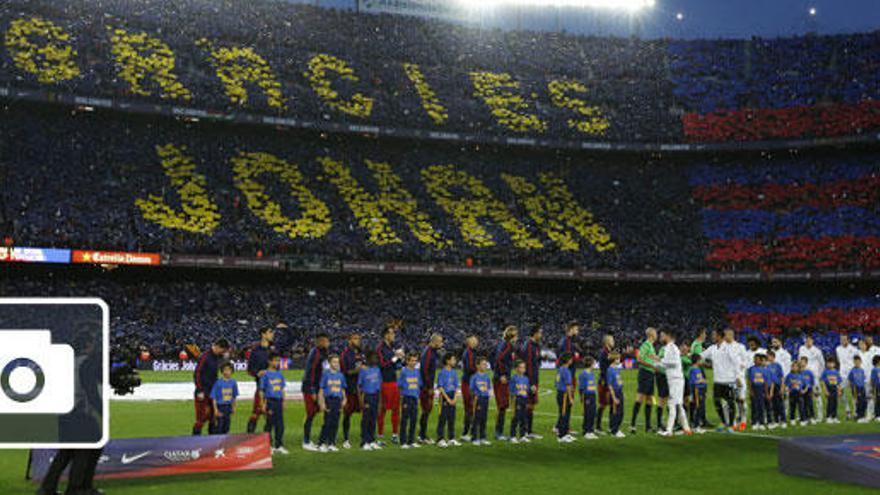 Emotivo homenaje del Camp Nou a Johan Cruyff