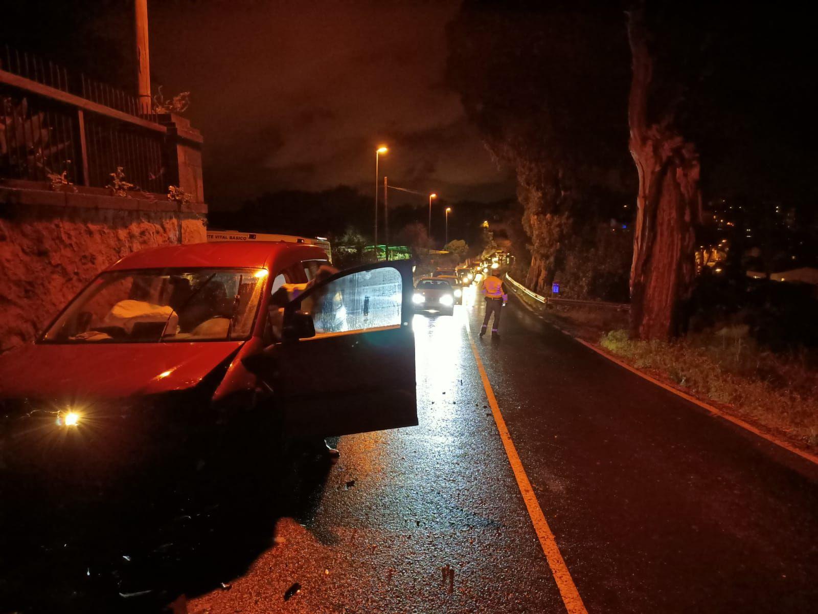Accidente en Santa Brígida